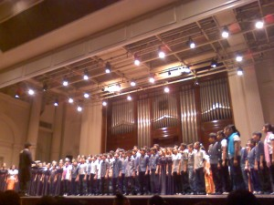 the combined choir